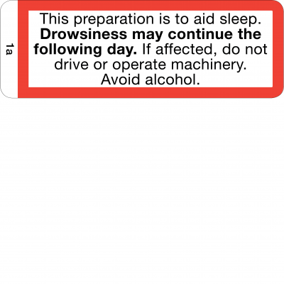 Drowsiness may continue the following day - CAL