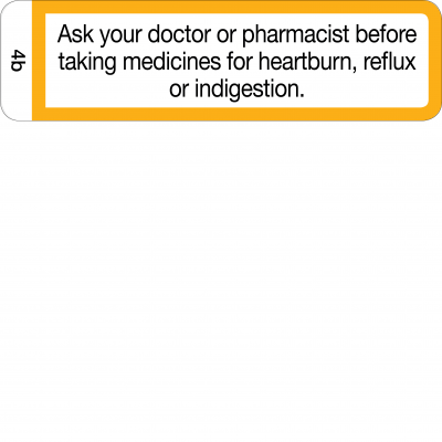Ask your doctor or pharmacist before taking medicines for heartburn - CAL
