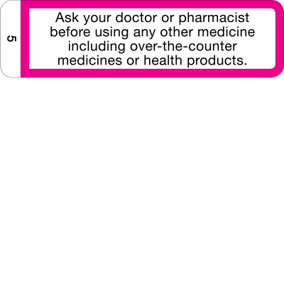 Ask your doctor or pharmacist before using any other medicine - CAL