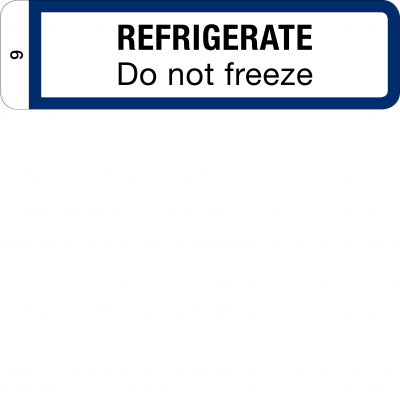 Refrigerate - Do not freeze - CAL