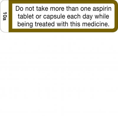 Do not take more than one aspirin tablet - CAL