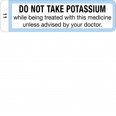 Do not take potassium - CAL