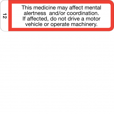 This medicine may affect mental alertness - CAL
