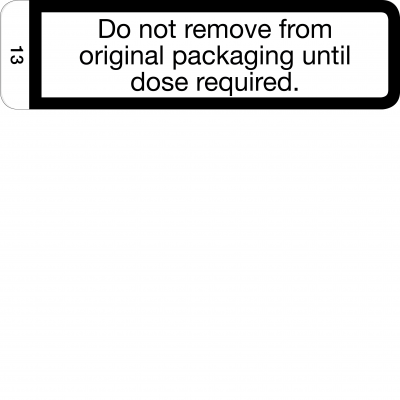 Do not remove from original packaging - CAL