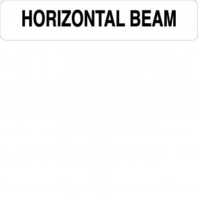 Horizontal beam
