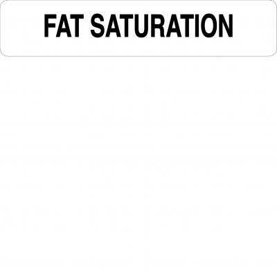 Fat saturation