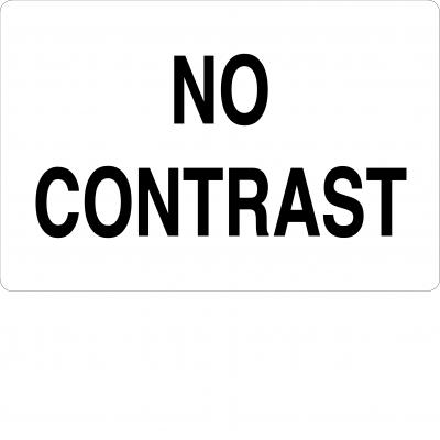 No contrast