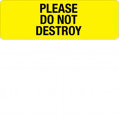 Please do not destroy