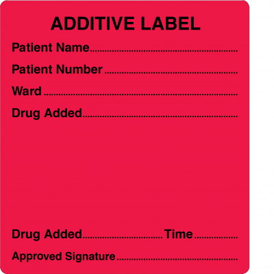 Additive Label - 66 x 60mm