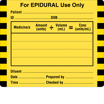 For EPIDURAL use only (Small)
