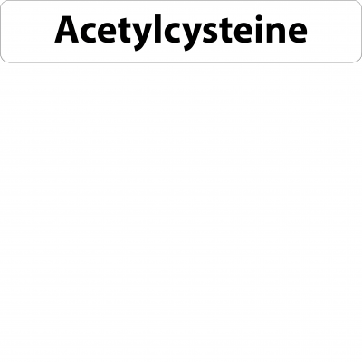 Acetylcysteine Infusion Line Label - 12 x 68mm