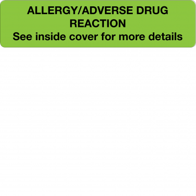 Allergy / Adverse drug reaction