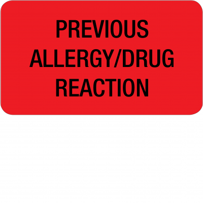 Previous Allergy / Drug Reaction