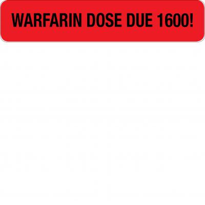 Warafin dose due 1600!