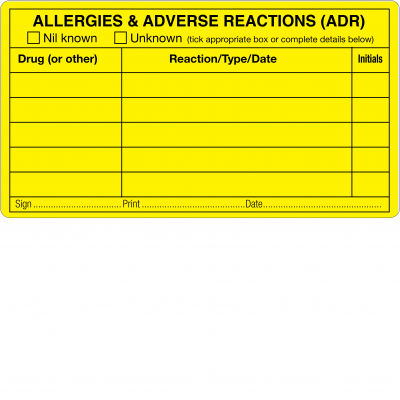 Allergies & Adverse Drug Reactions (ADR)