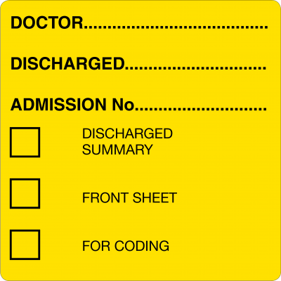 Discharged (Lt. Yellow)