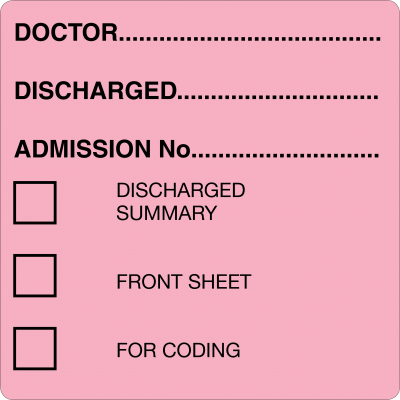 Discharged (Lt. Pink)