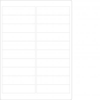 Laser Sheets - 20 Labels per Sheet