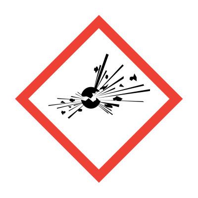 GHS - Explosive - 15 x 15mm